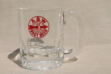 Vintage A&W root beer mug, baby beer glass root beer mug