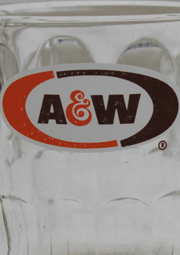 Vintage A&W Root Beer Mugs, Glass Mug Lot W/ Different Old