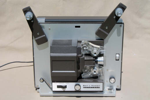 Vintage Bell & Howell Autoload 356A projector, 60s 8mm / super8 reel to reel movie projector