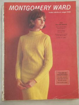 Vintage big book Montgomery Wards catalog, Fall - Winter 1967