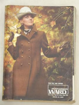 Vintage big book Montgomery Wards catalog, Fall Winter 1968