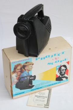 Vintage Brumberger projector in original box, Project A Scope children's toy slide viewer
