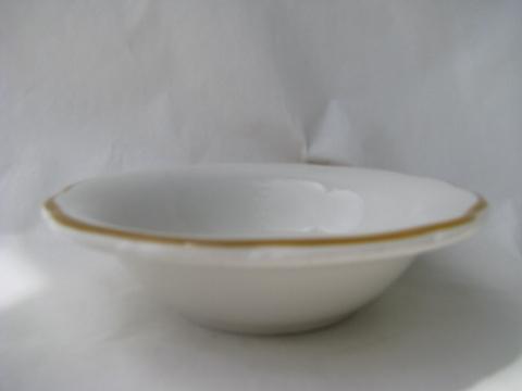 Vintage Buffalo china, old American ironstone restaurant ware bowls