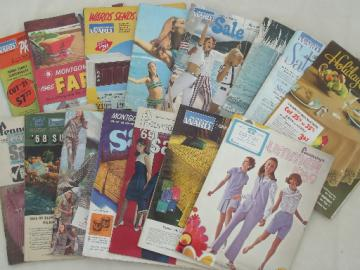 Vintage catalog lot, retro late 60s  Penneys & Wards sale catalogs