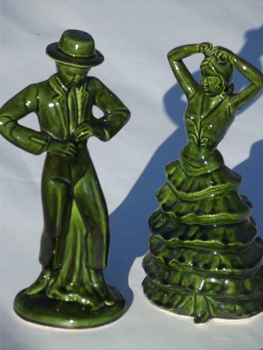 Vintage ceramic art spanish flamenco dancers 50s 60s pottery figures