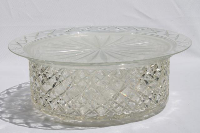 vintage clear plastic cake cover u0026 plate doubles as salad bowl / sandwich tray & vintage clear plastic cake cover u0026 plate doubles as salad bowl ...