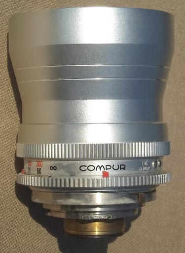 Vintage Compur Retina-Tele-Xenar 135mm telephoto lens for Kodak camera, Germany
