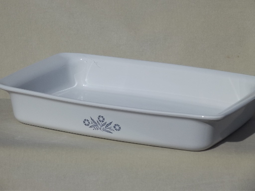 Vintage Corning Ware Cornflower Baking Roasting Pan Big