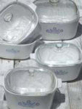 Vintage Corningware blue cornflower Corning ware glass pans & casseroles