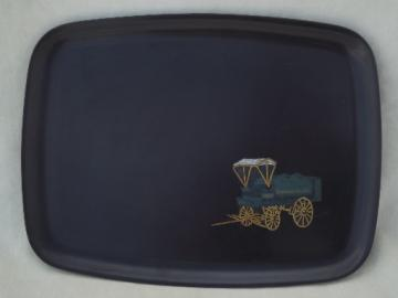 Vintage Couroc tray with Standard Oil advertising inlay design