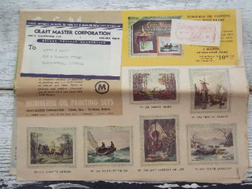 Vintage Craft Master paint by number pictures catalog for Craftmaster kits