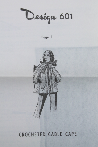 Vintage crochet patterns, pattern leaflets for retro 60s ponchos, shawls, bolero jacket etc.