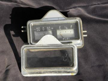 Vintage dashboard fuel gauge/ammeter for project car or hotrod