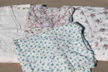 Vintage deadstock new w/ tags pure cotton flannel nightgowns, granny gown lot