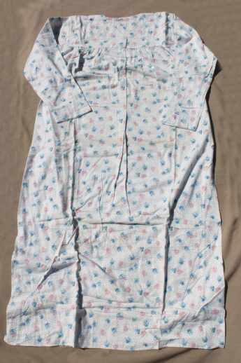 Vintage deadstock new w  tags pure cotton flannel nightgowns 80ea9231f