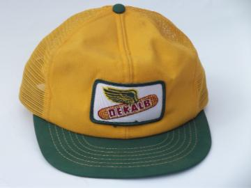 Vintage Dekalb seed corn advertising patch farmer cap, trucker style