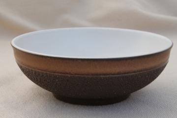 Vintage Denby Cotswold brown pottery, single cereal bowl or soup bowl