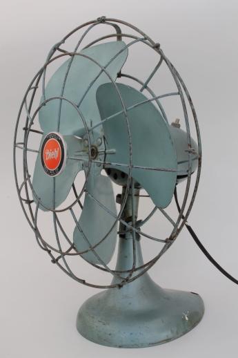 Vintage Diehl Electric Fan In Working Condition
