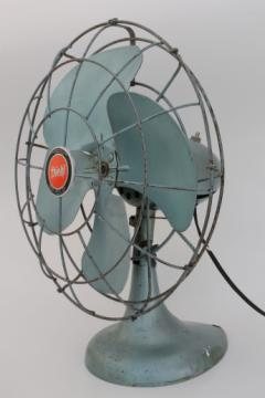 Vintage Diehl electric fan in working condition, oscillating industrial fan for wall mount or desk