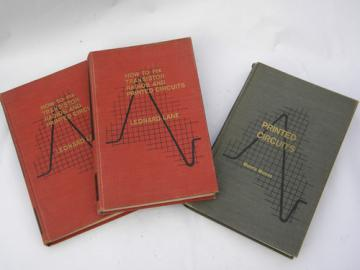 Vintage early 1960s technical books on transistor radio repair