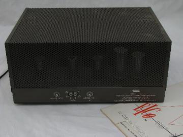 Vintage EICO HF-87 dual 35 watt vacuum tube power amplifier/amp with manual