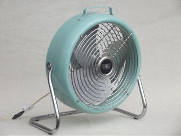 Vintage electric fan, mid-century mod turquoise aqua blue table / floor fan