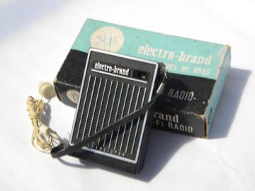 Vintage Electro-Brand model 655S 6 transistor radio w/original box