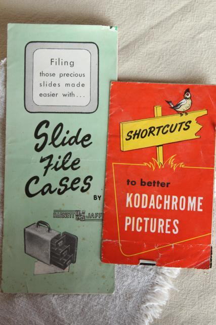 vintage ephemera, camera & photography booklets, advertising & instructions, collectible paper lot