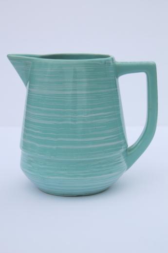 Vintage Esmond Pottery Milk Pitcher Turquoise Blue Green