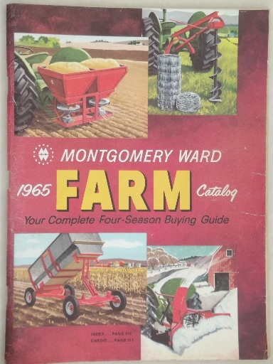 Vintage Farm Catalogs Lot Montgomery Wards Books From