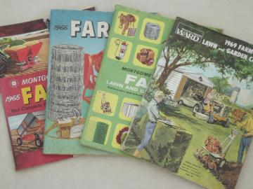 Vintage farm catalogs lot, Montgomery Wards books from 1965, 66, 68, 69