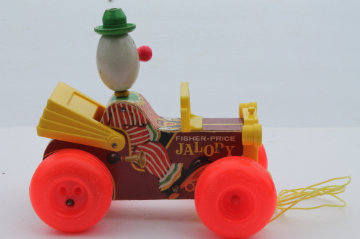 Vintage Fisher Price Jalopy Pull Toy 60s Or Early 70s