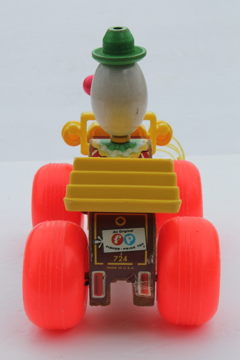 Vintage Fisher Price Jalopy Pull Toy Early