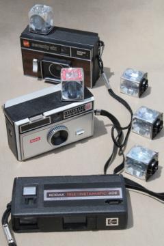 Vintage flashcube cameras lot, Kodak Instamatic 608, Instamatic 104, GAF 76 camera