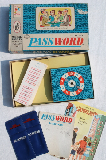 Vintage Games Lot Mb Password Card Game Seven Boxes Of