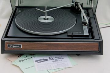 Vintage Garrard automatic turntable 42M, working record player w/ paperwork