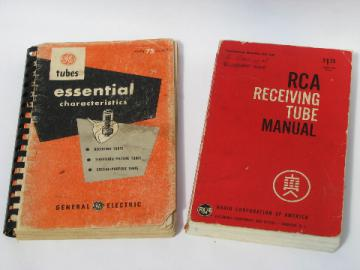 Vintage GE & RCA radio vacuum tube technical catalog & manual