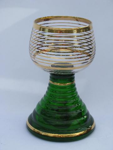 Vintage German Bavarian Wine Glass Huge Goblet W Swiss