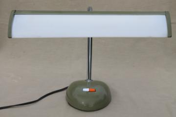 Vintage goose neck desk lamp, retro mid century adjustable desk light Japan