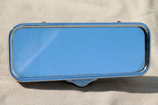 Vintage Guide rear view mirror, 50s   GM / Chevrolet glare proof mirror hot rod restoration part