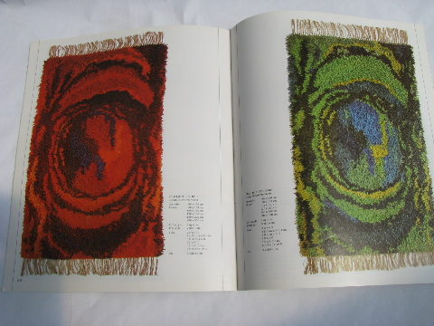 Vintage Gum Rya Rug Catalog Retro Danish Modern Shag Wool Rugs From Denmark