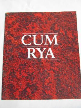 Vintage Gum Rya rug catalog, retro danish modern shag wool rugs from Denmark