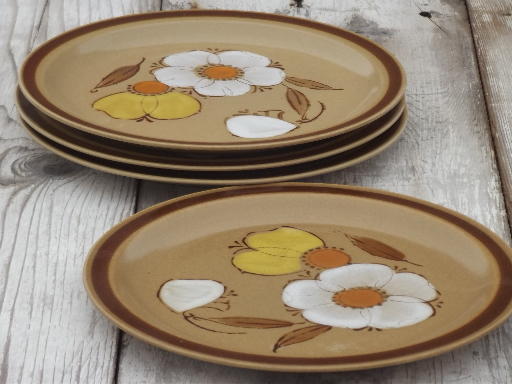 Vintage Hearthside Japan Dogwood Pattern Stoneware Dinner