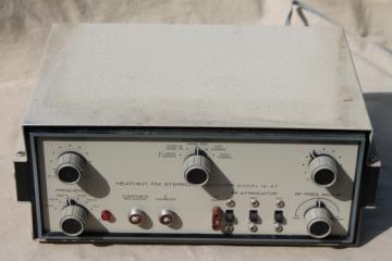 Vintage Heathkit IG-37 FM Stereo Generator, radio equipment signal generator