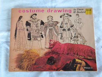 Vintage historical costume/fashion drawing book Renaissance/flappers+