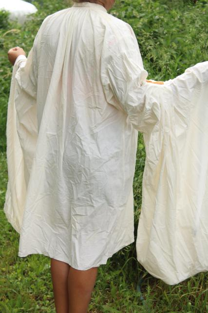 vintage historical reenactor costumes, medieval ren faire homespun cotton tunic, shirts