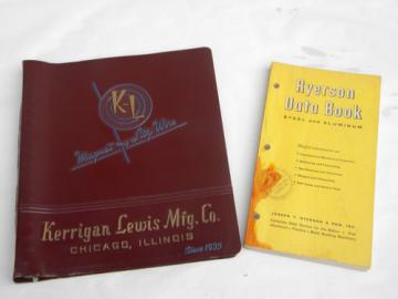 Vintage industrial advertising catalogs/handbooks w/technical data