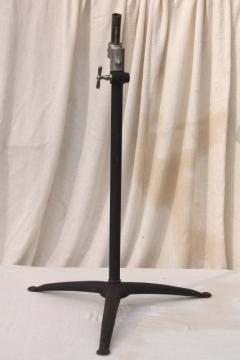 vintage industrial  stand for adjustable light telescoping base for lighting