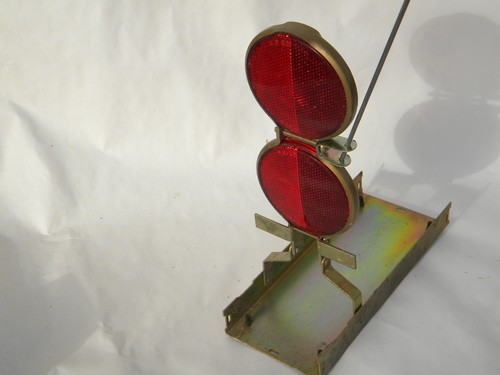 Vintage industrial truck Vari-Flare emergency safety reflectors/flags