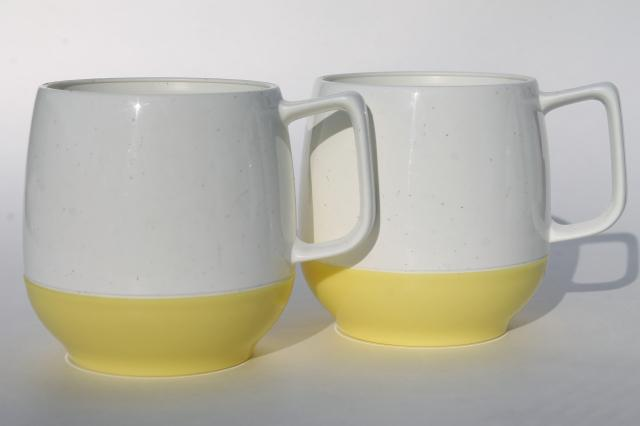 vintage insulated plastic pitcher & mugs set, Vacron thermoware in retro pastels